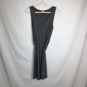 Mossimo Gray and white stripe dress